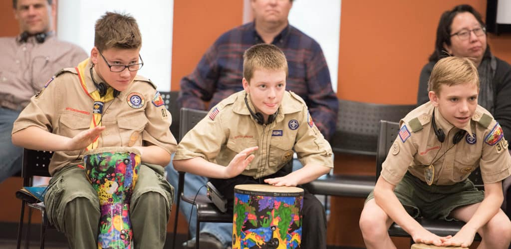 Boy Scout Music-Making Workshop Image